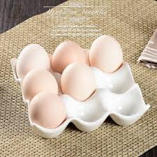 ceramic egg holder tray creative 9 grids white ceramic egg tray container storage box