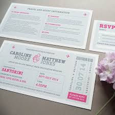 Handmade Wedding Invitation Cards Airline Boarding Pass Wedding Invitation By Project Pretty
