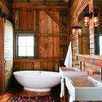 Rustic Bathroom Sconces - rustic bathroom sink powder room rustic with towel ring round wall