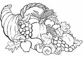 november coloring pages for kindergarten thanksgiving food