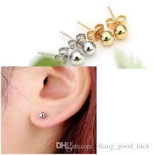 magnetic gold stud earrings shop stud online japanese and korean hot fashion earrings bead