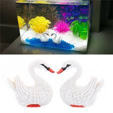 resin aquarium swan decoration fish tank ornaments landscape