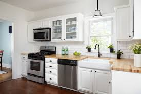 kitchen with white cabinets and wood countertops 16 modern kitchens with butcher block countertops