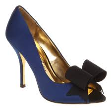 Wedding Shoes Ted Baker Womens Ted Baker Keanah Peeptoe Court Shoe Dark Blue Sa Ebay