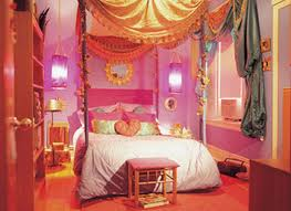 Pink And Orange Curtains Pink Wall Theme And White Bedding Set Connected By Golden And
