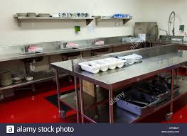 Professional Kitchen Work Surface And Kitchen Equipment In Professional Kitchen Stock