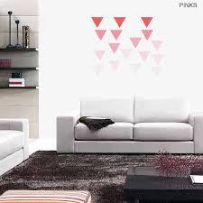 large geometric triangle vinyl wall stickers by oakdene designs