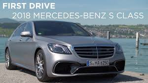 first drive 2018 mercedes benz s class driving ca youtube