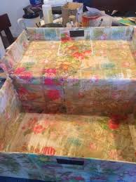 Decoupage Box Ideas - shoe box storage hometalk