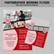 wedding photographer flyers pink and red business advertise