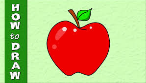 kids educational web series how to draw an apple drawings for