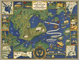 a map of portland maine and some places thereabout copyright 1928