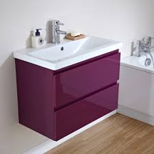milano 700mm gloss plum 2 drawer vanity unit bathrooms and stuff