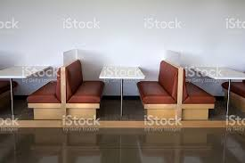 modern and clean office cafeteria table booth stock photo