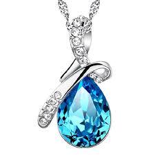 blue gem necklace images Tear drop necklace gh jpeg