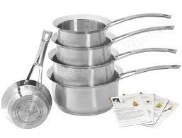 et cuisine marc veyrat et cuisine lot de 5 casseroles marc veyrat 3709 pas cher set