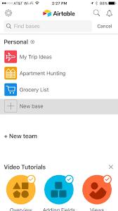airtable for mobile create a base using a template u2013 airtable