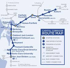 Sparks Nevada Map Capital Corridor Train Route Map For Northern California