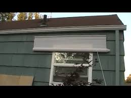 How To Make Roll Up Curtains How To Fix Outdoor Rollup Shades Threading Youtube