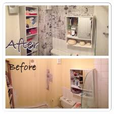 bathroom diy renovation old papers wallpaper art cave tags ideas