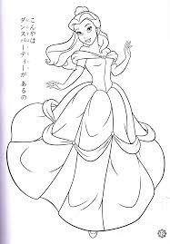 princess belle coloring page kids coloring