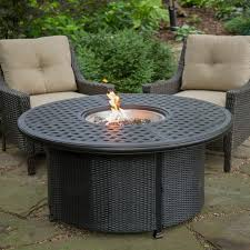 red ember fremont 52 in round propane fire pit with wicker base