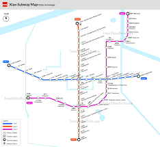 Green Line Metro Map by Xian Metro Subway Lines Stations Ticket Fare
