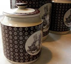 country kitchen canister sets ceramic trends with vintage images