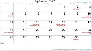 print calendars for 2017 september calendar 2017 with holidays