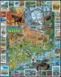 Maine State Usa Map by Amazon Com White Mountain Puzzles Best Of Maine 1000 Piece