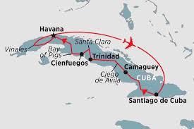 Cuban Map Cuba Tours Travel U0026 Trips Peregrine Adventures Nz