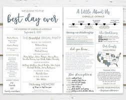 Wedding Program Wedding Program Etsy