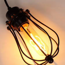 Indoor Pendant Lights Loft Vintage Retro Lamp Pendant Lights Metal Pomelo Cage Lampshade