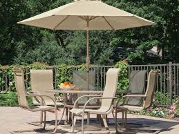 Round Patio Dining Sets - patio 53 patio dining set with umbrella dining tables
