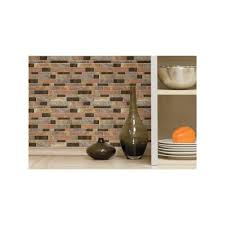 Home Depot Stone Tile Backsplash by Sticktiles 10 5 In W X 10 5 In H Modern Long Stone Peel And