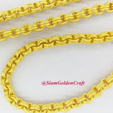 double gold necklace images Gorgeous 96 real thai gold plated necklace 26 quot double chain jpg