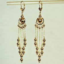gold drop earrings 14k gold drop earrings ebay