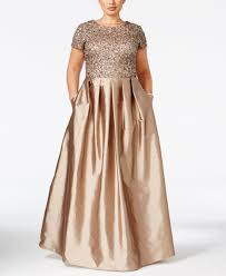 adrianna papell plus size beaded a line gown dress pinterest