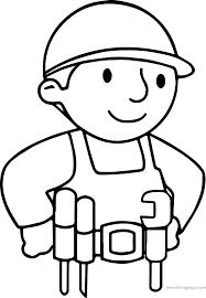 basic bob builder coloring wecoloringpage