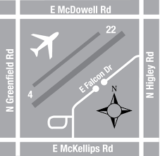 Phoenix Airport Gate Map by Maps U0026 Directions Falcon Field Airport