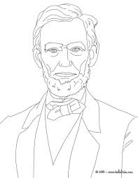 president abraham lincoln coloring pages hellokids com
