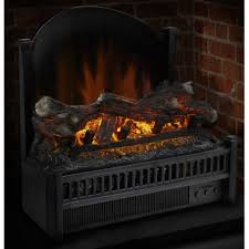 simple artificial fireplace logs electric decorating idea