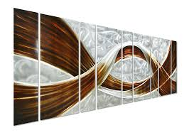amazon com pure art caramel desire metal wall art giant scale amazon com pure art caramel desire metal wall art giant scale metal wall decor in abstract design 3d wall art for contemporary decor 9 panels measures