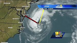 Ocean City Md Map Jose Weakens To Tropical Storm High Surf In Ocean City