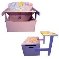 bureau coffre 3 en 1 disney princess coffre 3en1 princesses coffre bureau banc