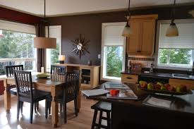 open layout kitchen dining room