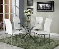 Kitchen Furniture Uk by Round Dining Set With 4 White Chairs Amazon Co Uk Kitchen U0026 Home