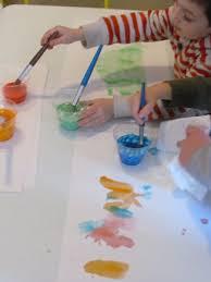 mixing up bright and colorful m u0026m paint in preschool teach preschool