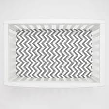Mini Rocking Crib by White And Gray Zig Zag Mini Crib Sheet Carousel Designs