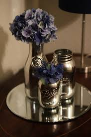 How To Paint A Flower Vase Krylon Looking Glass Spray Paint On Mason Jars Crafty Ideas I